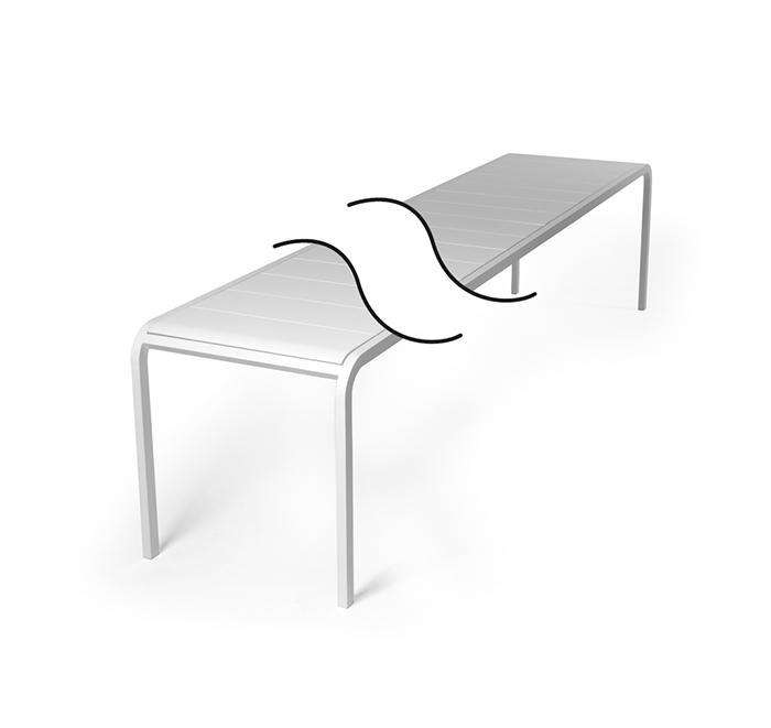 Custom-made table width 70 cm