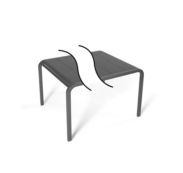 Custom-made table width 90 cm