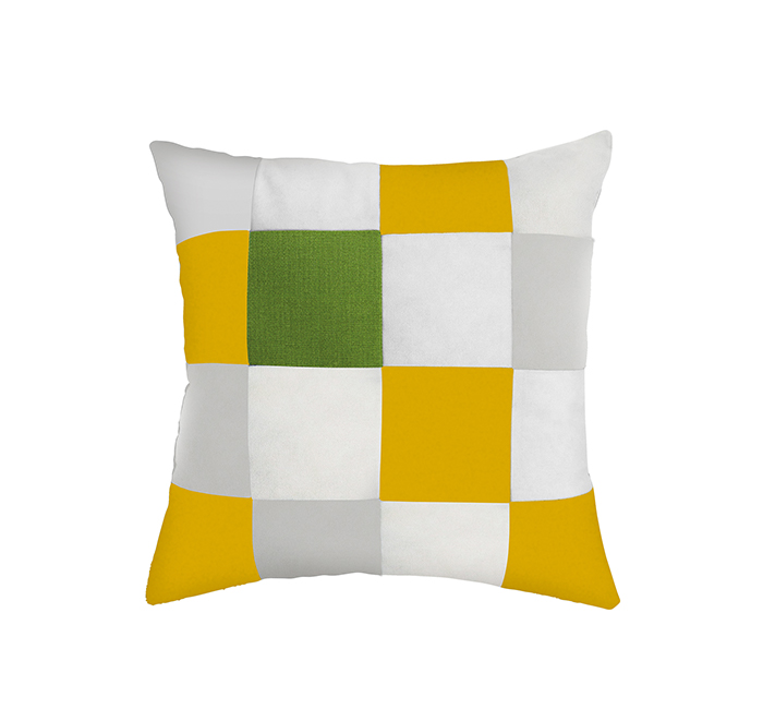 square cushion curcuma/white