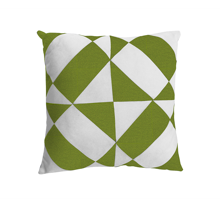 azulejos cushion macaco green/white