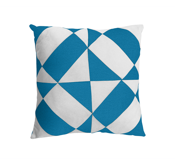azulejos cushion azure/white