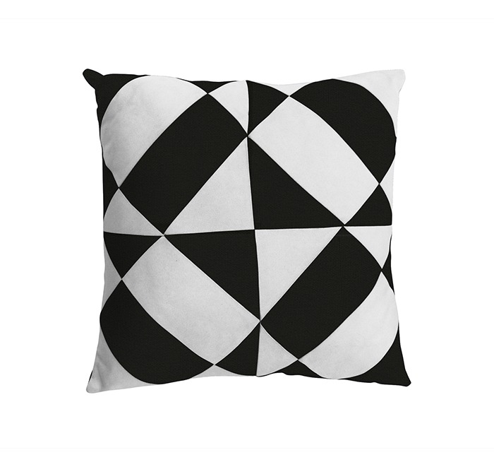 azulejos cushion black/white