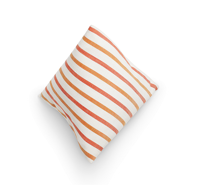Berlingot mandarine cushion