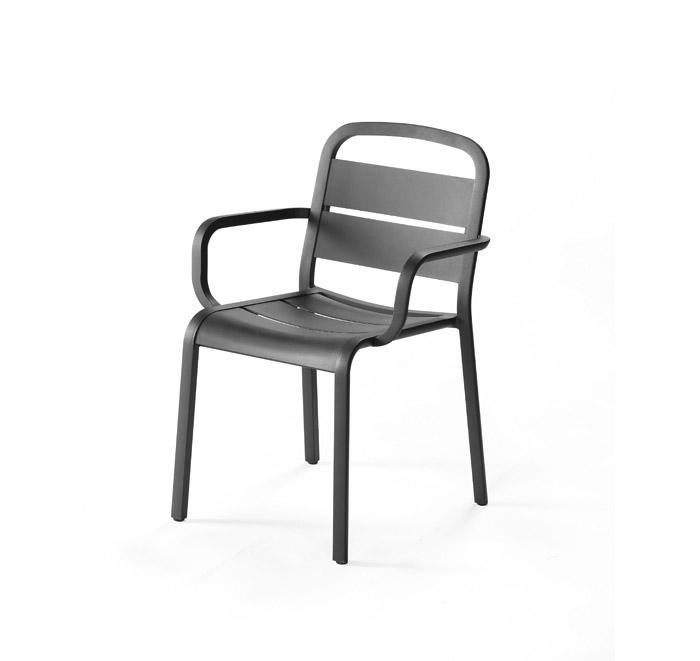 Marumi aluminum armchair